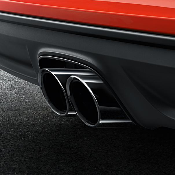 Porsche Sporteindpijpen zwart, 718 Boxster / Cayman