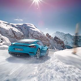 Porsche Sneeuwkettingen voor 718 Boxster en Cayman 982