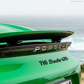 Porsche Embleem hoogglans zwart '718 Boxster GTS 4.0'