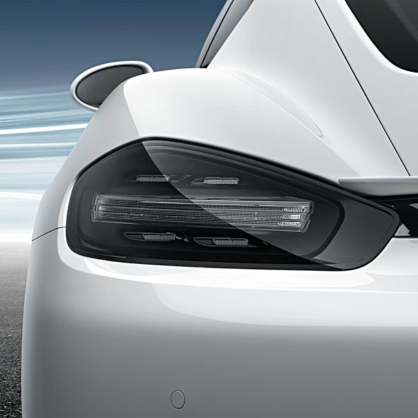 Porsche Achterlichten verduisterd
