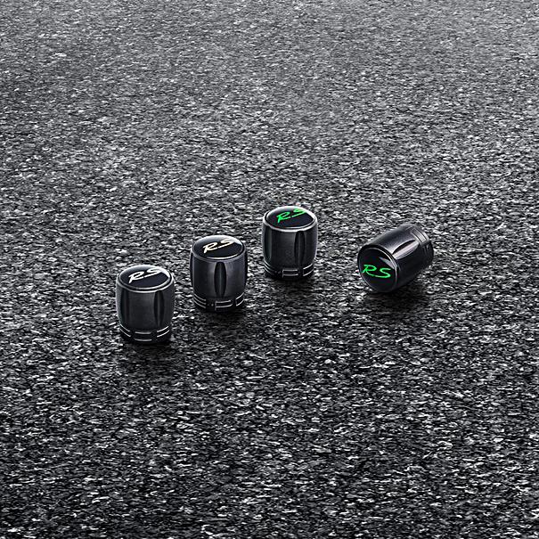 Porsche Ventielhulzen GT3 RS en GT2 RS - Zwarte huls met Lizard Green embleem