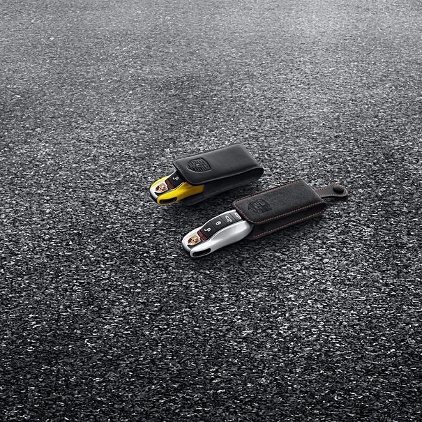 Porsche Autosleutel gespoten-Racing geel