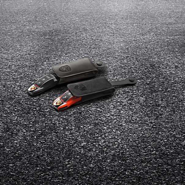 Porsche Autosleutel gespoten- Lava oranje