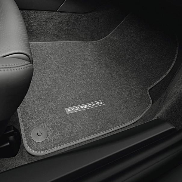 Porsche Vloermattenset 4-delig zwart met nubuck zoomrand voor 991