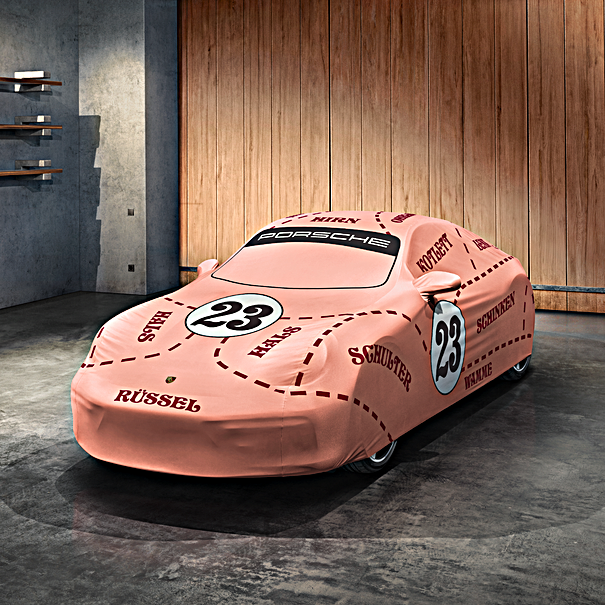 """Porsche Autohoes voor binnen - 992 met Aerokit """"Pink Pig"""""""