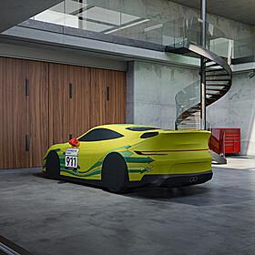Porsche Autohoes voor binnen in Grello design - 992 GT3 Touring