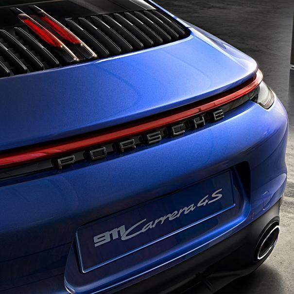 Embleem hoogglans zwart 'Porsche'