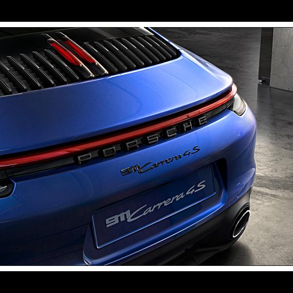 Porsche Embleem hooglans zwart
