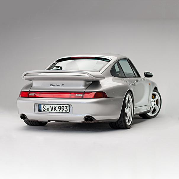 Porsche Uitlaatsiertstuk dubbel 911 Turbo (993) links