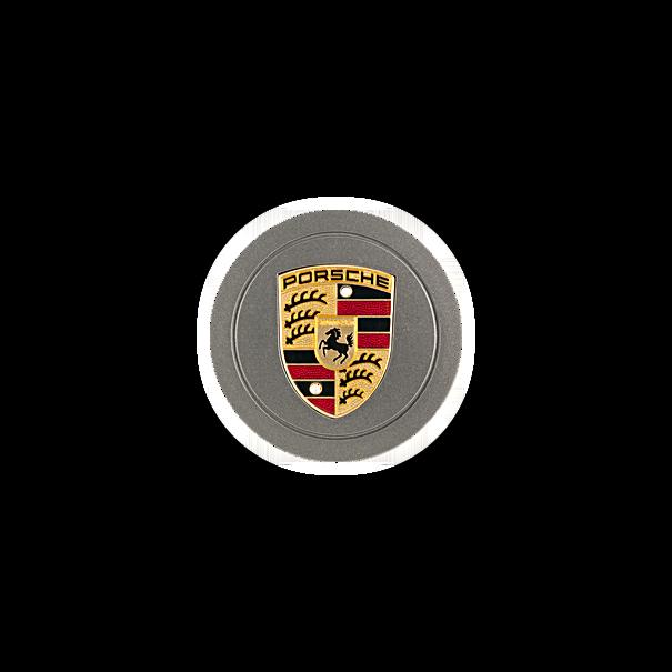 Naafdop Steel Grey met gekleurd wapenschild - Porsche 993 Carrera S