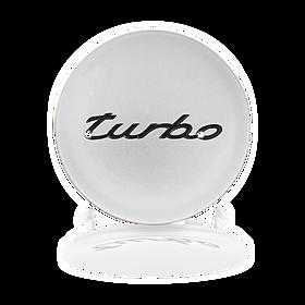 """Naafdop """"turbo"""" zilver - Porsche 996 Turbo"""