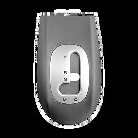 Tiptronic versnellingsbakdeksel zwart / zilver gespoten voor middenconsole - Porsche 986 en 996
