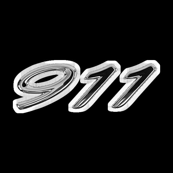 Belettering '911' zilverkleurig - Porsche 996 Millenium