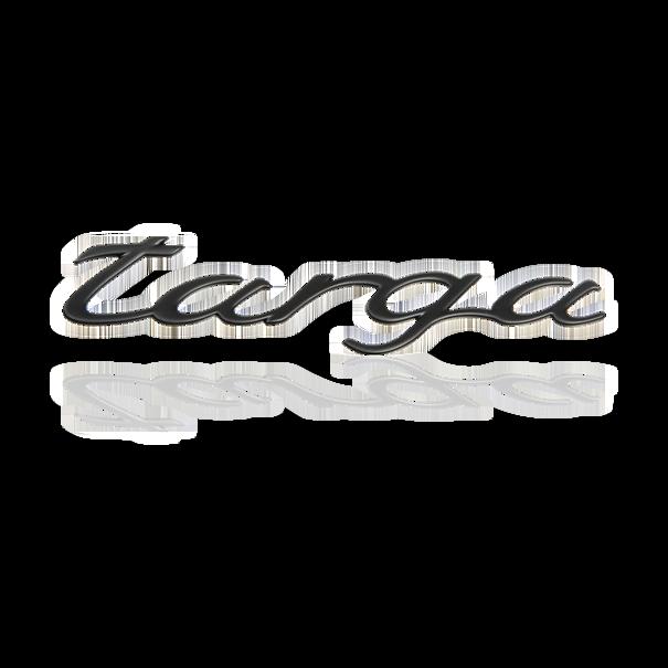Belettering 'Targa' Rally Black onderaan motorkap achteraan - Porsche 996