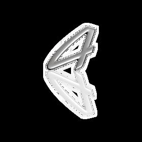 Belettering '4' zilverkleurig bovenaan motorkap achteraan - Porsche Carrera