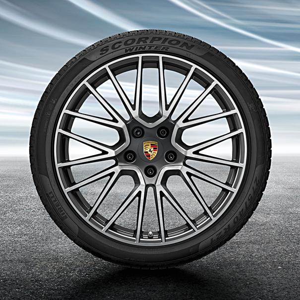 Porsche 21 inch Cayenne RS Spyder Design complete winterset voor Cayenne (E3)