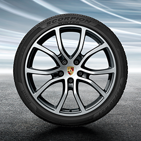 Porsche 21 inch Cayenne Exclusive Design Black complete winterset voor Cayenne (E3)