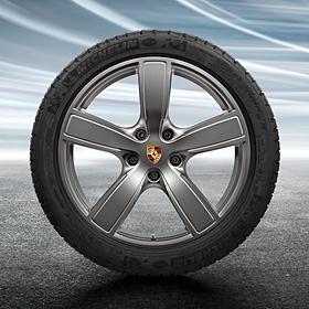 Porsche 20 inch Platinum Cayenne Sport complete winterset voor Cayenne