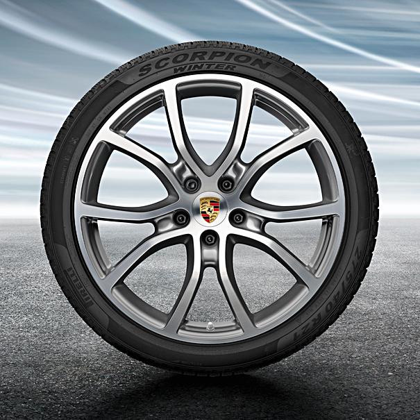 Porsche 21 inch Cayenne Exclusive Design complete winterset voor Cayenne