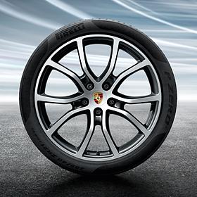 Porsche 21 inch zwarteCayenne Exclusive Design complete winterset voor Cayenne
