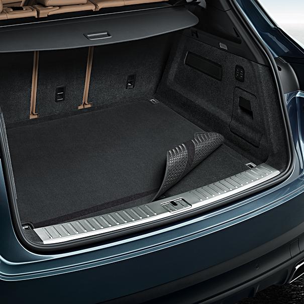 Porsche Omkeerbare koffermat met nubuck zoomrand voor Cayenne