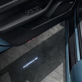 Porsche LED projectie inbouwset voor in de deur