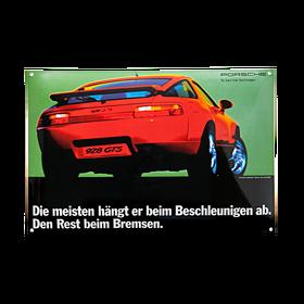 Porsche Emaille schild - 928 GTS