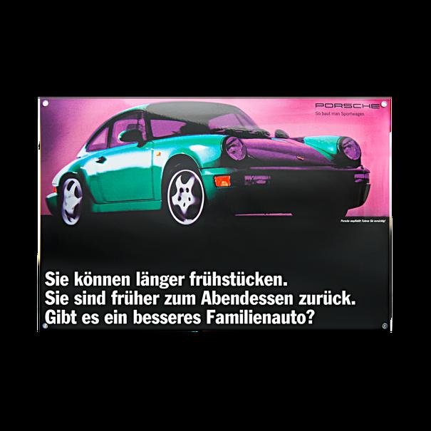 Porsche Emaille schild - 964 - De ideale familieauto