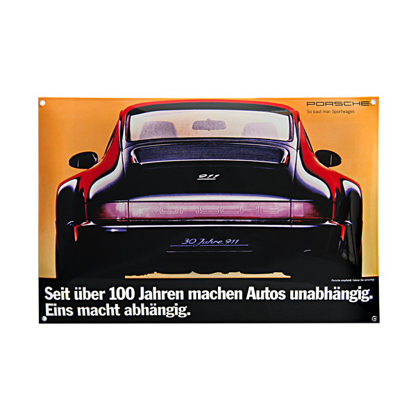Porsche Emaille schild - 964 RS - Jubileum editie