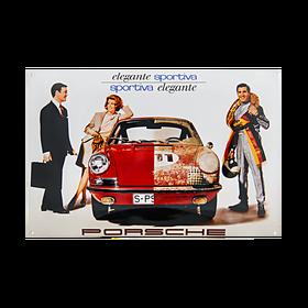 Porsche Emaille schild - Elegante sportiviteit