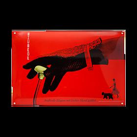Porsche Emaille schild - Rood pop-art