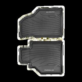 All-weather rubber vloermatten in zwart - Porsche 996 en 986 met stuur links