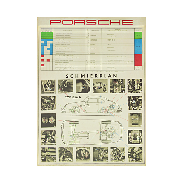 Smeerschema, Porsche 356 A (Duits)