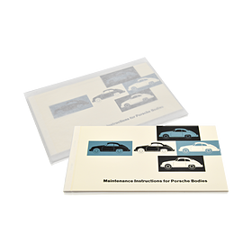 Onderhoudsinstructies voor koetswerk Porsche 356 (Engels)