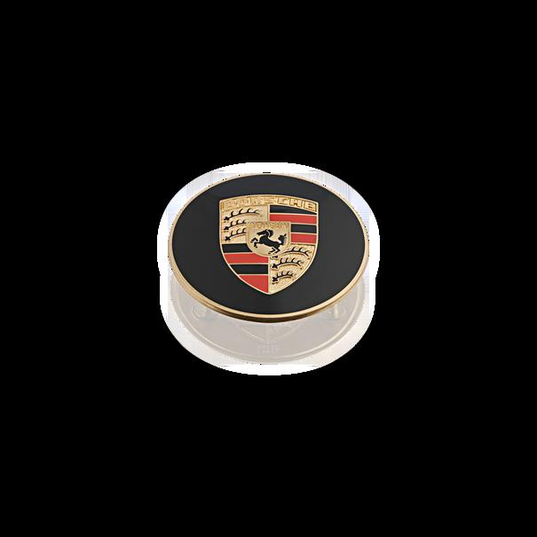 Naafdop met gekleurd wapenschild in reliëf - Porsche 356, 911 en 914