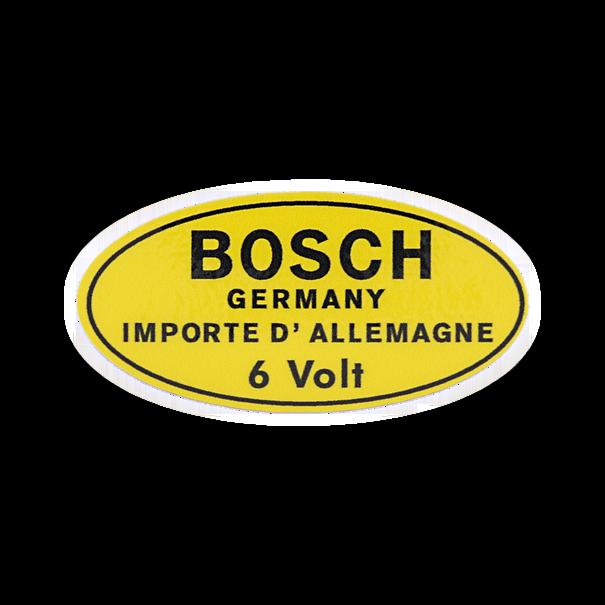 BOSCH sticker '6 volt' - Porsche 356