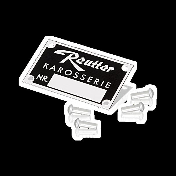 Reutter-embleem 'Karosserienummer' - Porsche 356
