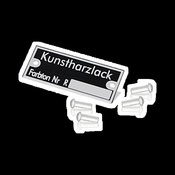 Reutter-embleem 'Kunstharzlack' - Porsche 356