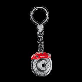 Porsche Sleutelhanger remschijf, rood