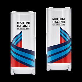 Porsche Set van 2 longdrinkglazen, MARTINI RACING