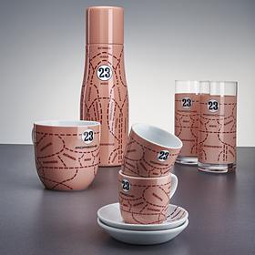 Porsche Set van twee longdrinkglazen, Pink Pig collectie