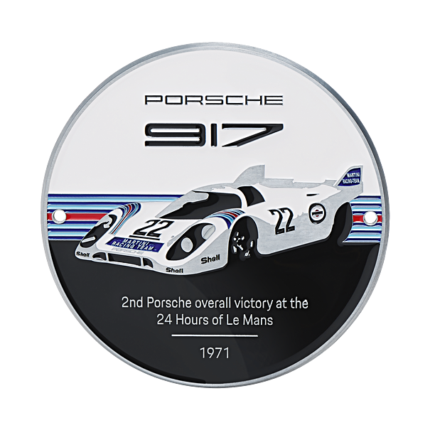 Porsche Grillbadge 917, Limited Edition, MARTINI RACING