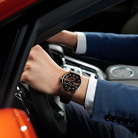 Porsche Sport Chronograaf Subsecond Titanium&Brown, Sport Chrono Collectie