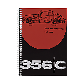 Porsche Instructieboekje voor 356 C (Engels) – modeljaar 1963–1965