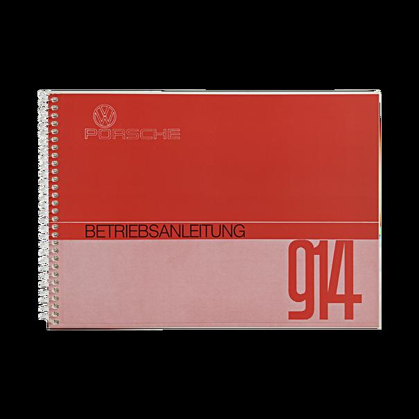 Porsche Instructieboekje voor 914 (Duits) – modeljaar 1972