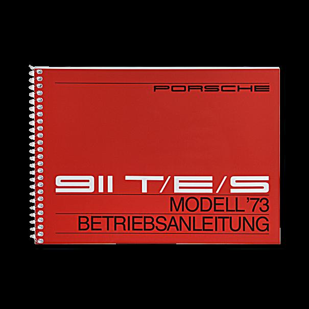 Porsche Instructieboekje voor 911 T, E, S (Engels) – modeljaar 1973