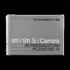 Porsche Instructieboekje voor 911, 911 S, 911 Carrera (DE) – modeljaar 1974