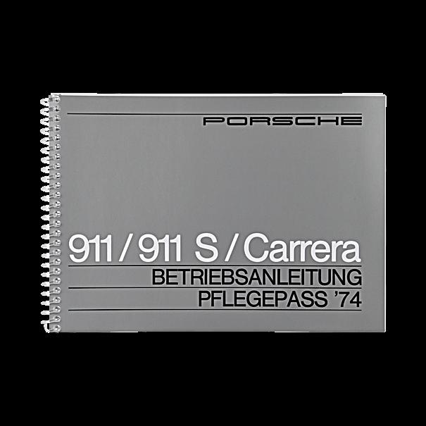 Porsche Instructieboekje voor 911, 911 S, 911 Carrera (Engels) – modeljaar 1974