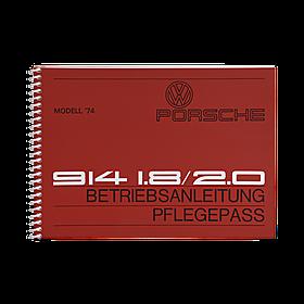 Porsche Instructieboekje voor 914 (Engels) – modeljaar 1974