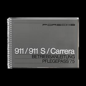 Porsche Instructieboekje voor 911, 911 S, 911 Carrera (DE) – modeljaar 1975